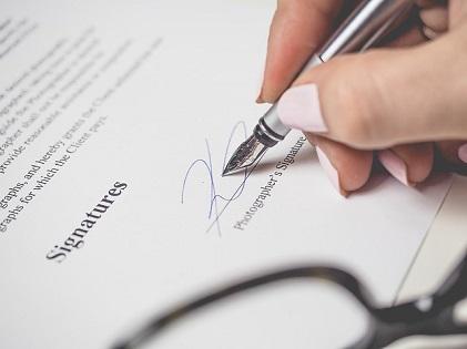 signature agreement sign